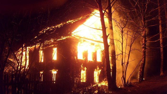 В Красноярском крае произошел пожар